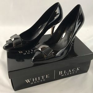 WHBM Black Patent Pumps